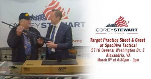 Corey Stewart Meet and Greet @ SpecDive Tactical | Alexandria | Virginia | United States